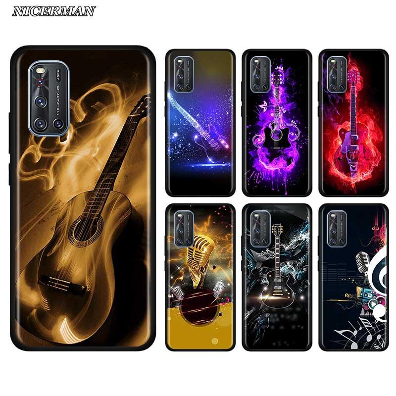 Dünne Fall für Vivo S1 Y15 Pro Y12 Y17 Y19 Z6 Y30 Y50 V19 iQOO 3 Z1 5G Telefon herbst Abdeckung Shell Gitarre