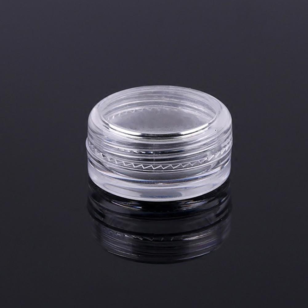 5 Pcs Nail Art Transparent Plastic Glitter Powder Studs Storage Box Empty Case