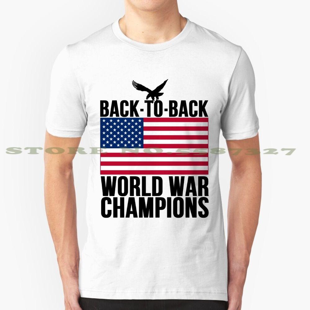 Distressed U.S. Flag & Eagle World War Champs Summer Funny T Shirt For Men Women Champs Distressed Eagle Flag Usa War World