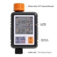 lcd screen electronic automatic water timer sprinkler controller outdoor garden timer automatic watering device irrigation tools