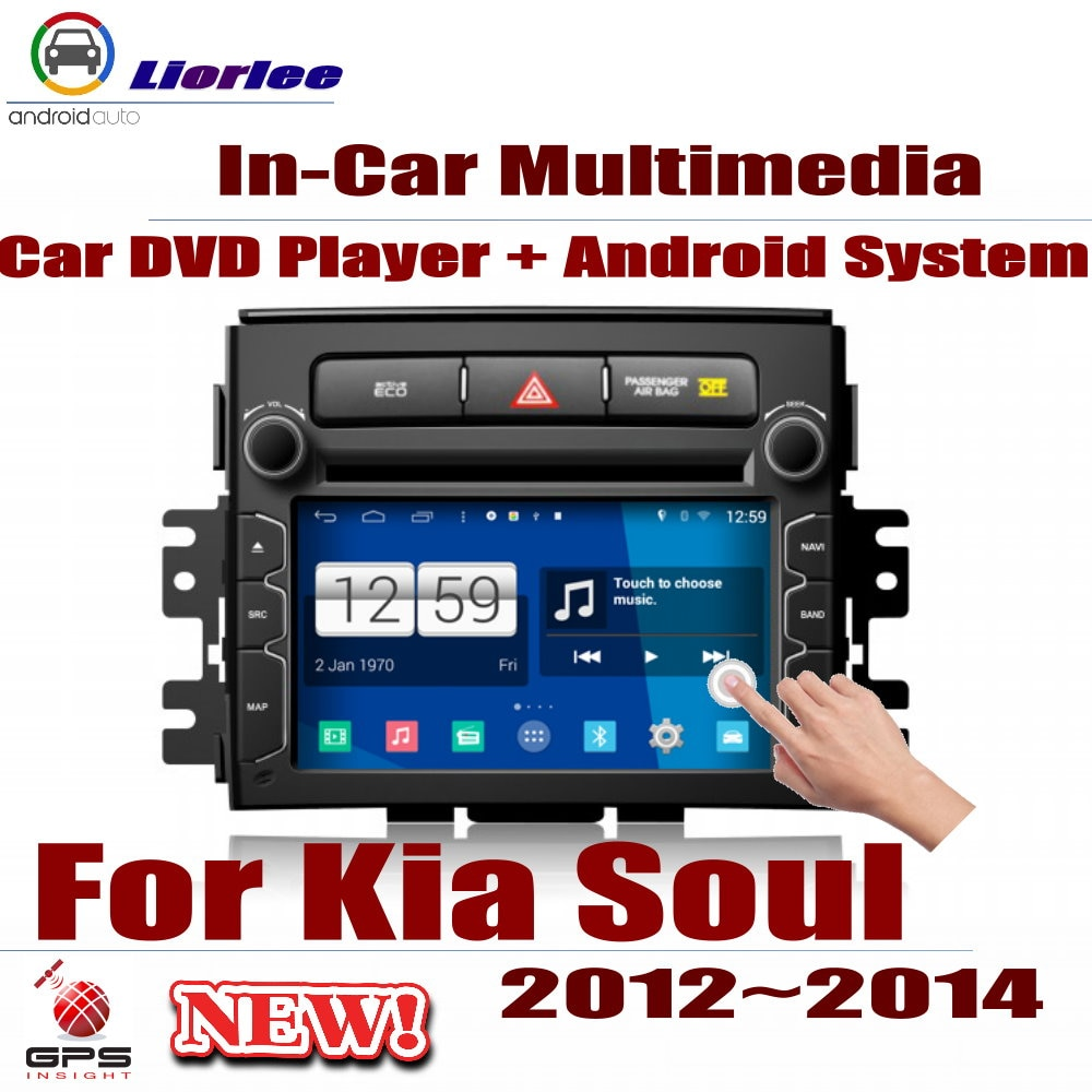 Rádio do carro dvd player gps navegação para kia soul 2012-2014 android hd displayer sistema de áudio vídeo estéreo na unidade de cabeça traço