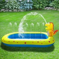 outdoor childrens cushion water cushion baby splashing water cushion inflatable fountain three in one summer fun water toy