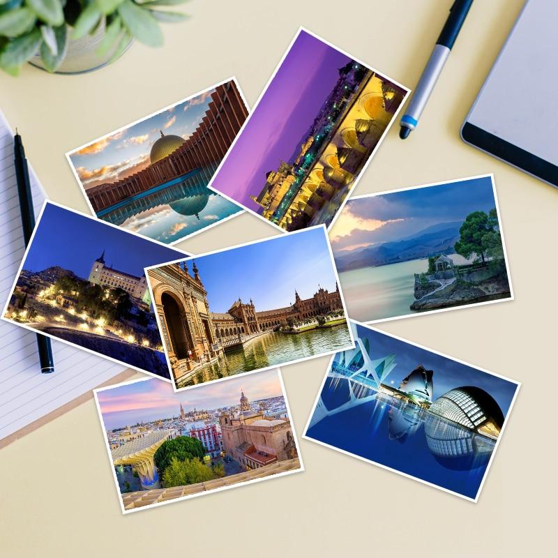 Barcelona, España de viaje de Madrid deseo tarjeta felicitación negocios postales de...