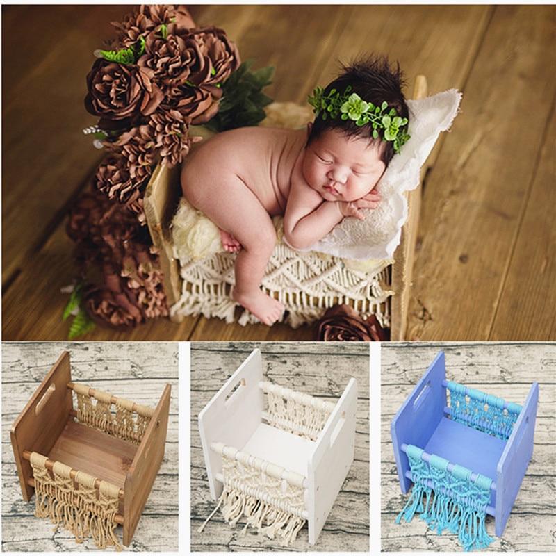 ملحقات تصوير لحديثي الولادة ، ملحقات استوديو الصور للأطفال ، عتيق ، يحتوي على سرير ، ملحقات تصوير لحديثي الولادة