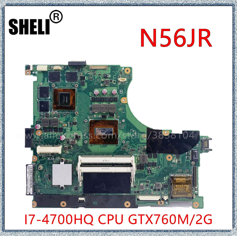 N56JR ل ASUS N56JRH اللوحة المحمول N56JR N56JK اللوحة REV2.0 i7-4700HQ مع GTX760M 2GB بطاقة الرسومات