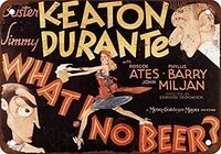 tin signs vintage wall decor for cafe bar pub decor 8x12 incheswhat no beer film buster keaton kitchen store ranch yard iron