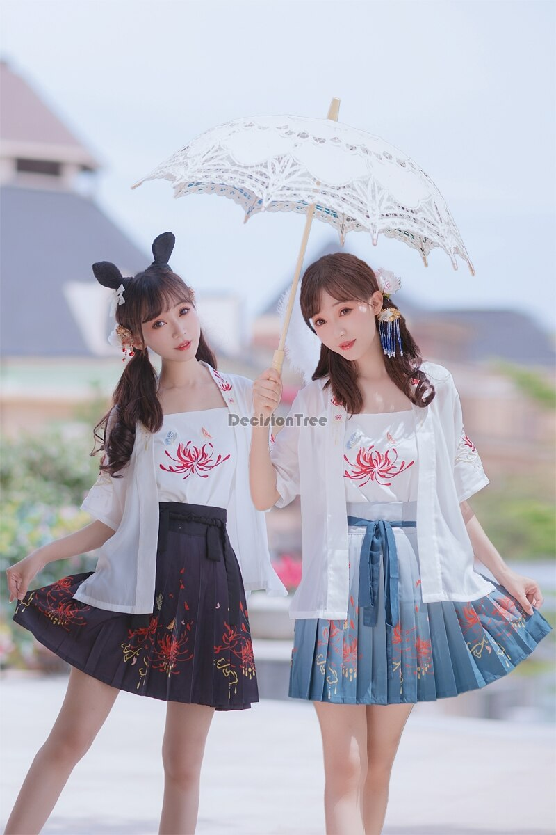 2021 hanfu فستان ملابس رقص شعبي الصينية التقليدية الوطنية الجنية زي سلالة أغنية القديمة الأميرة مرحلة وتتسابق hanfu