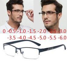 Очки для близорукости с полуметаллической оправой унисекс, Рецептурные очки для близорукости 0 0,5 1 1,5 2 2,5 3  4  5  6 Женские очки для чтения      АлиЭкспресс