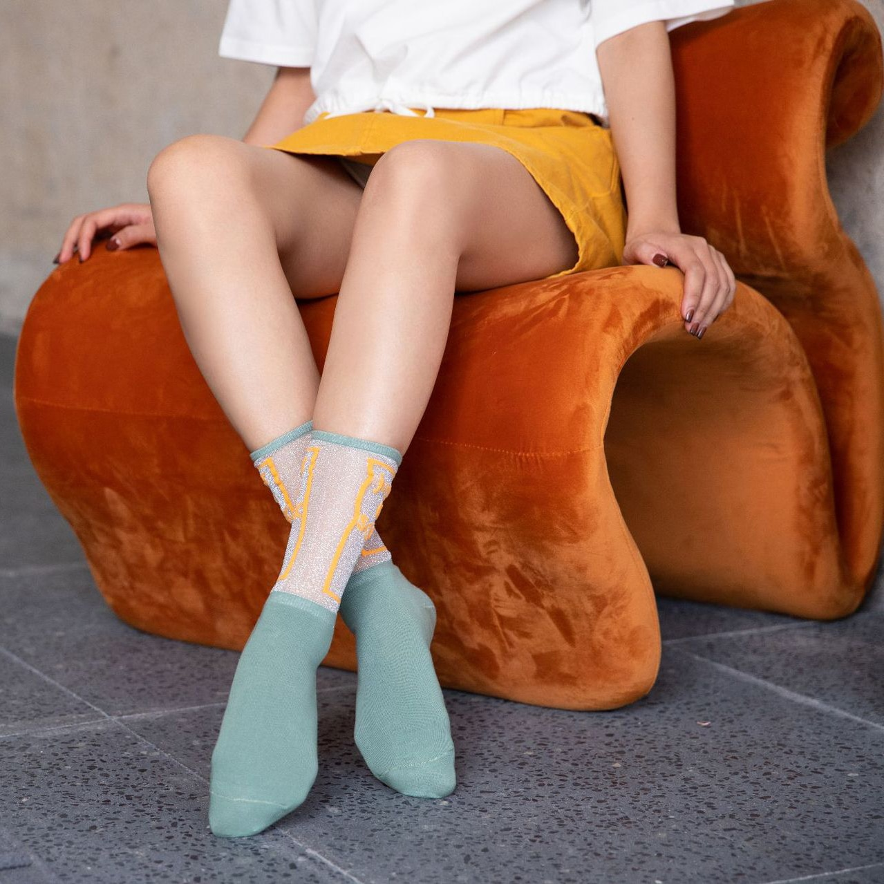 New Arrived Spring Summer Girl Youth Patchwork Silk Cotton Thin Letters Outing Street Fashion Gentle Woman Middle Tube Socks
