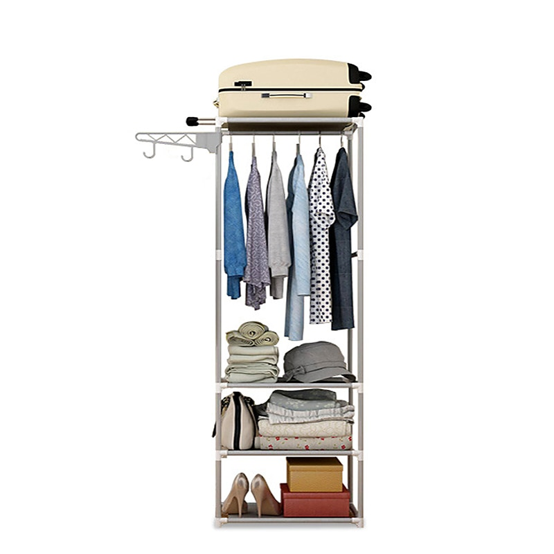 جديد بسيط معدن الحديد معطف الرف الطابق الدائمة الملابس معلقة تخزين الرف شماعات ملابس رفوف أثاث غرفة نوم