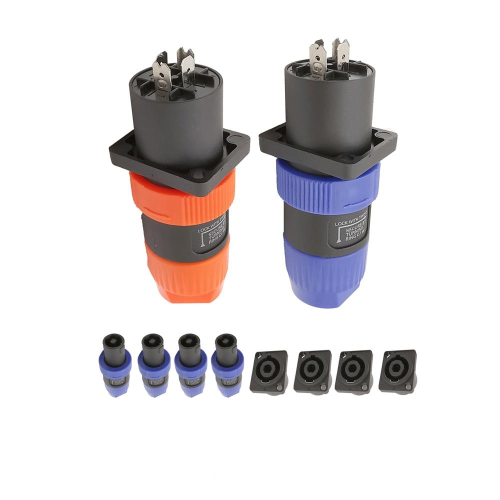 4 Uds NL4FC Cable speakon corona amplificador XRL altavoz de Audio Macho...