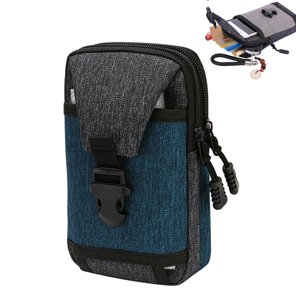 """AliExpress - 7"""" Tactical Waist Pack Molle Men's Casual Bag Waterproof Travel Purse Outdoor Phone Pocket Multifunctional EDC Fanny Pack"""