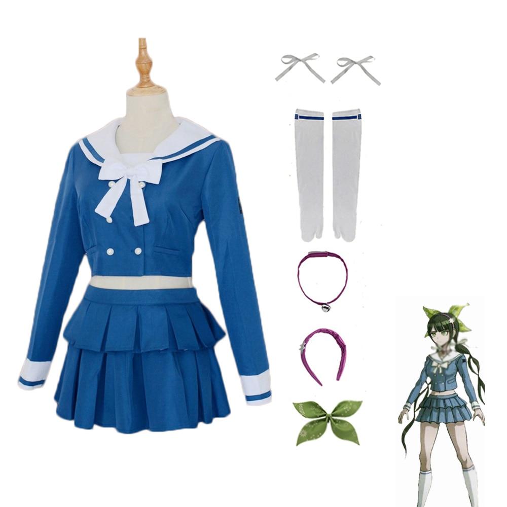 Danganronpa v3 chabashira tenko halloween cosplay traje japonês anime jk uniforme escolar marinheiro terno