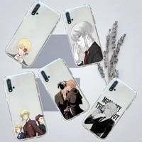 moriarty the patriot anime phone case transparent for huawei honor p mate 40 20 30 10 50 i 9 x mate pro lite 8a