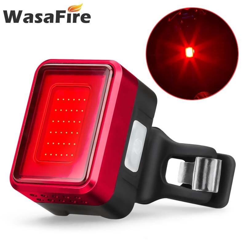 Luz de freno inteligente para bicicleta con Sensor inteligente de 36 * leds, luz trasera para bicicleta recargable por USB, luz trasera para bicicleta, lámpara de advertencia de seguridad nocturna