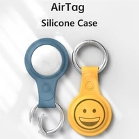 for apple airtag case silicone protective sleeve keychain shockproof cover for apple tracker tpu anti lost device airtag case