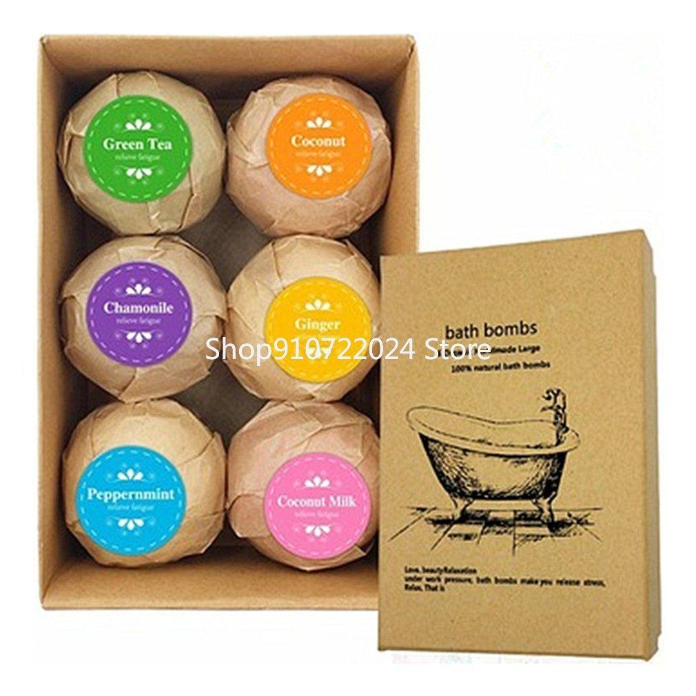 360g Soap Handmade Essential Oil Moisturizing Bath Salt Bubble Shower Bombs Ball Body Cleaner Spa