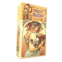 Baralho de cartas de tarô mucha oracle, jogos para festas