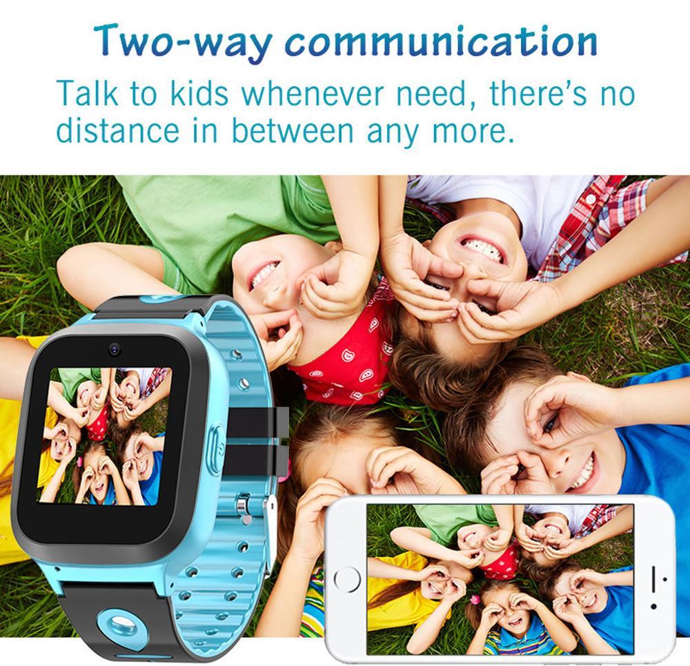 Reloj inteligente GPS para niños, reloj inteligente antipérdida de 1,44 pulgadas para niñas, niños, SOS, SIM, llamada de teléfono, reloj impermeable para niños con cámara