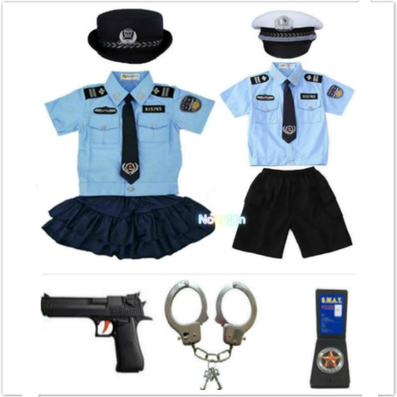 زي ضابط شرطة الهالوين للأطفال ، زي شرطة للأولاد والبنات ، تأثيري ، بدلة شرطة بأصفاد ، مجموعة جديدة