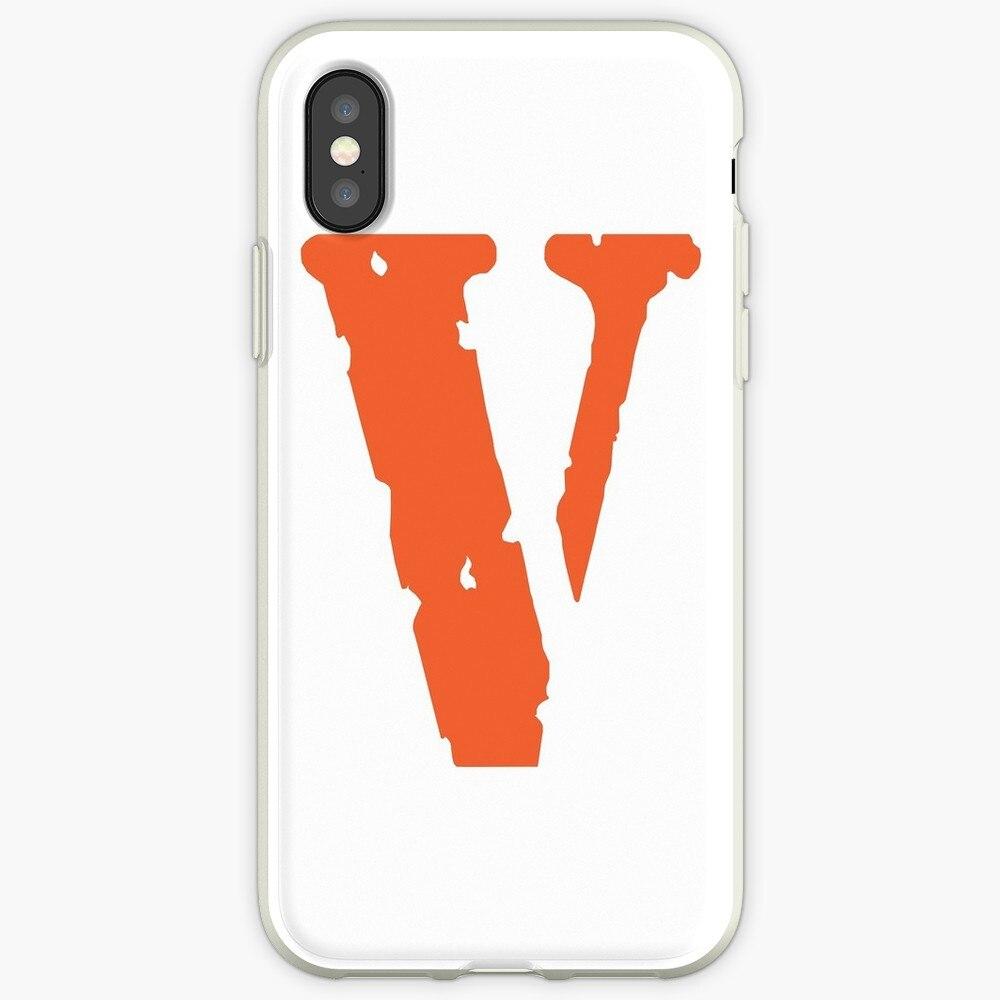 Vlone Iphone CaSoft caso para iPhone 7 7 6 6s Plus 5S 4 silicona cubierta transparente para iPhone X Xs X 11 Pro Max XR