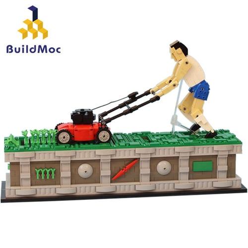 Buildmoc creador de ciudades Weeding Hombre con Motor Spell inserto edificio creativo clásico bloques Moc ladrillo juguete regalo niños
