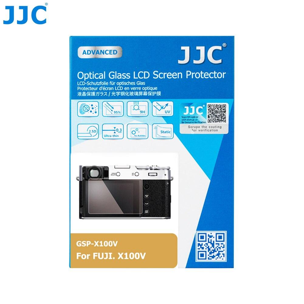 """JJC Anti-Scratch Protector de Pantalla DE LA Cámara de vidrio templado para FUJIFILM X100V cámara sin espejo 0,01 """"Ultra-Delgado 2.5D bordes redondos"""