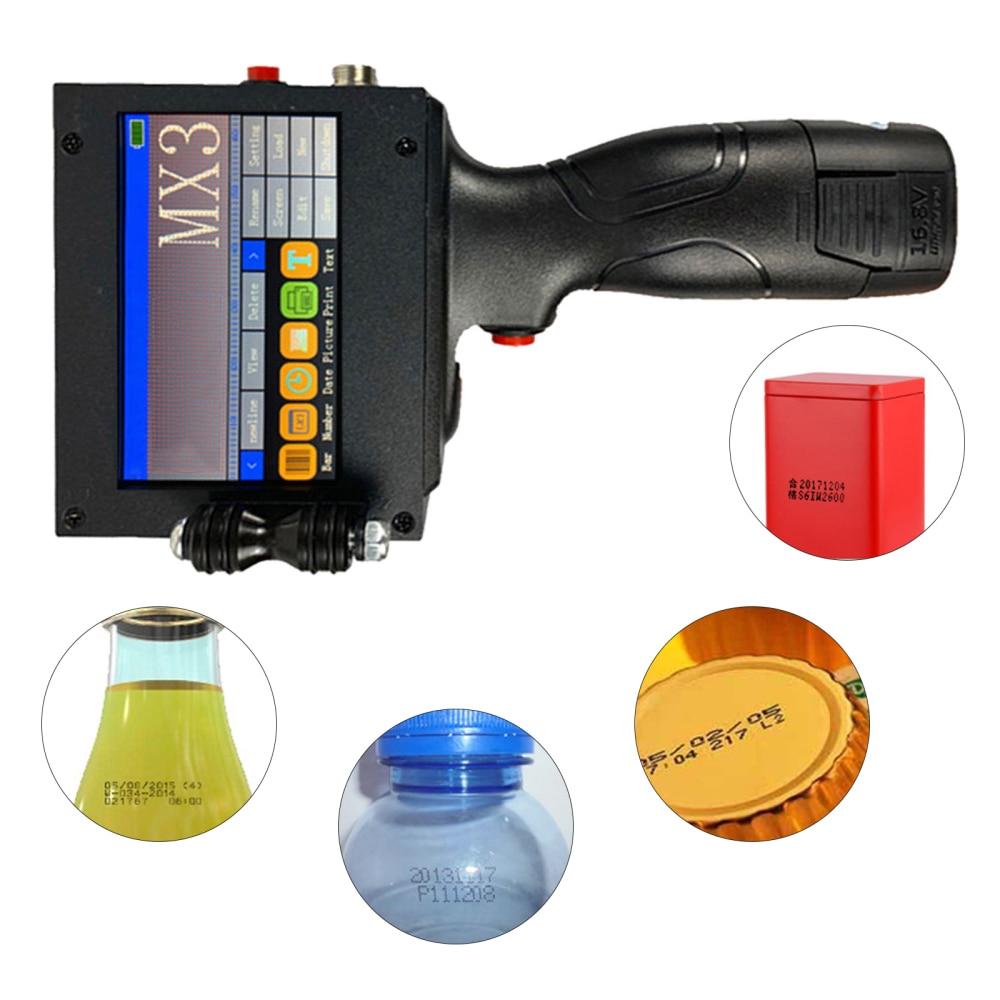 LED Touch Screen Handheld Inkjet Printer Intelligent USB Production Date Food Packaging Code Machine Batch Number Label enlarge