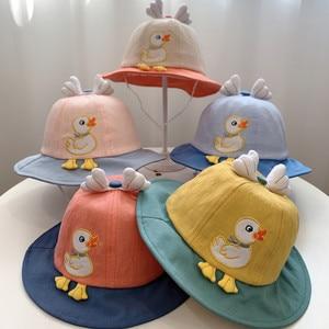 Панама с принтом для мальчиков и девочек, шляпа от солнца, Пляжная шапка с принтом, лето 2021