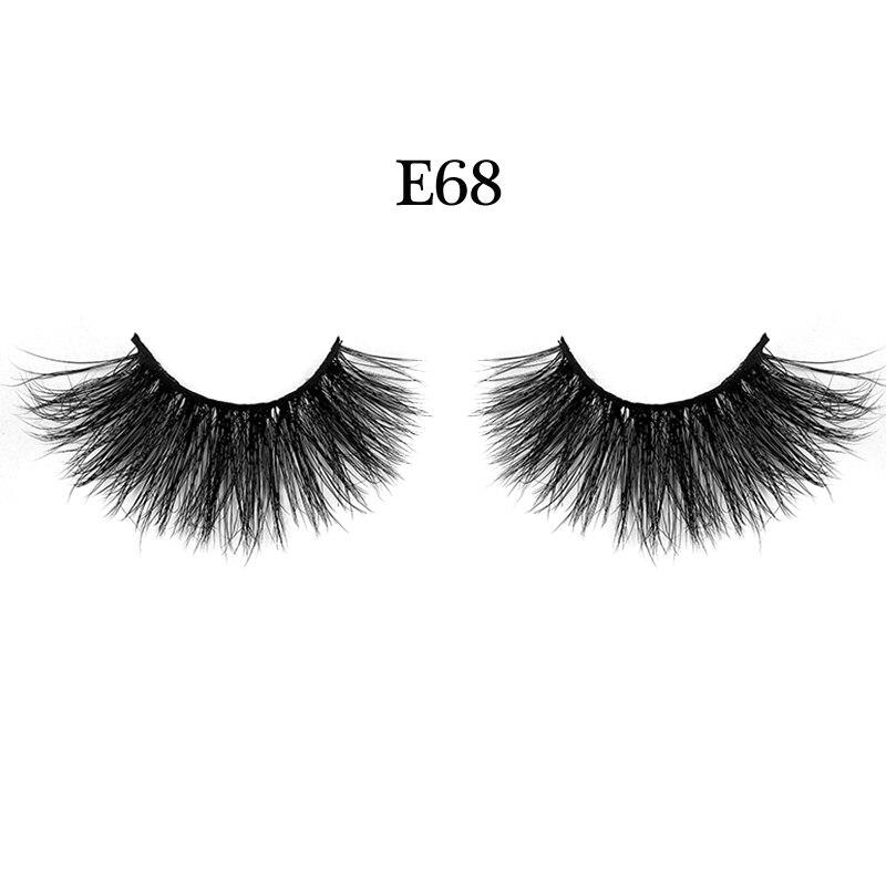 High Quaity 3D Mink Eyelashes 25mm Lengthen 100% Hand Made False Lashes Eye Extension cilios Long lasting