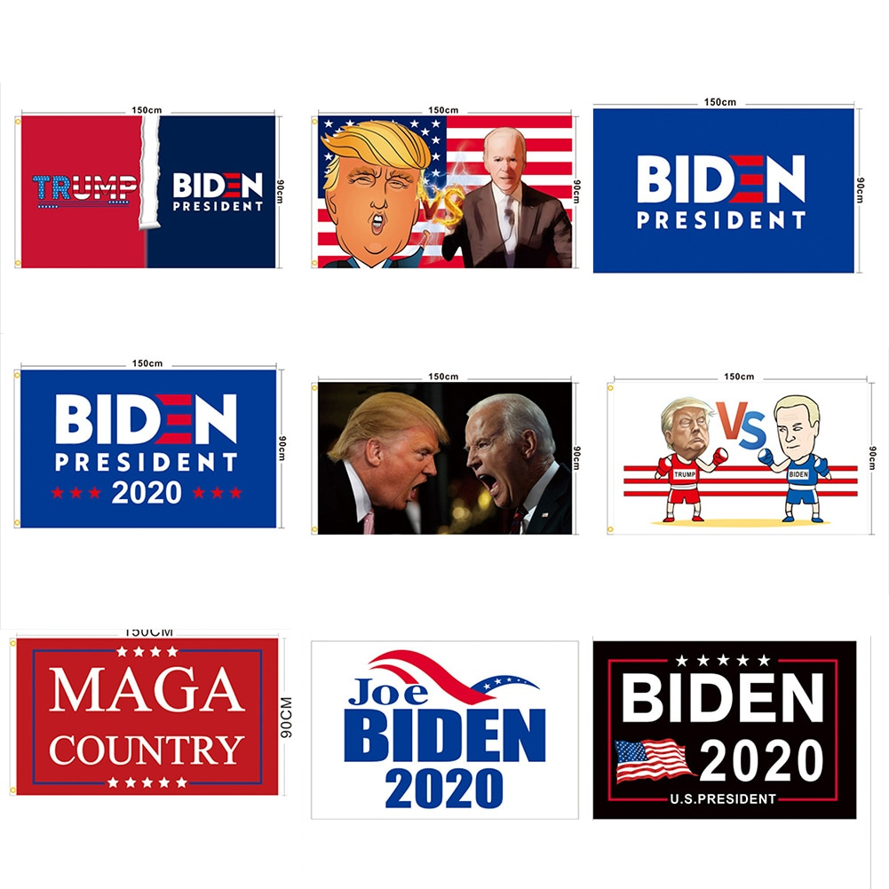 2020 Bandera de Joe Biden elige presidente democrático 3 x 5 arandelas de latón azul marino diseño de moda, aspecto hermoso