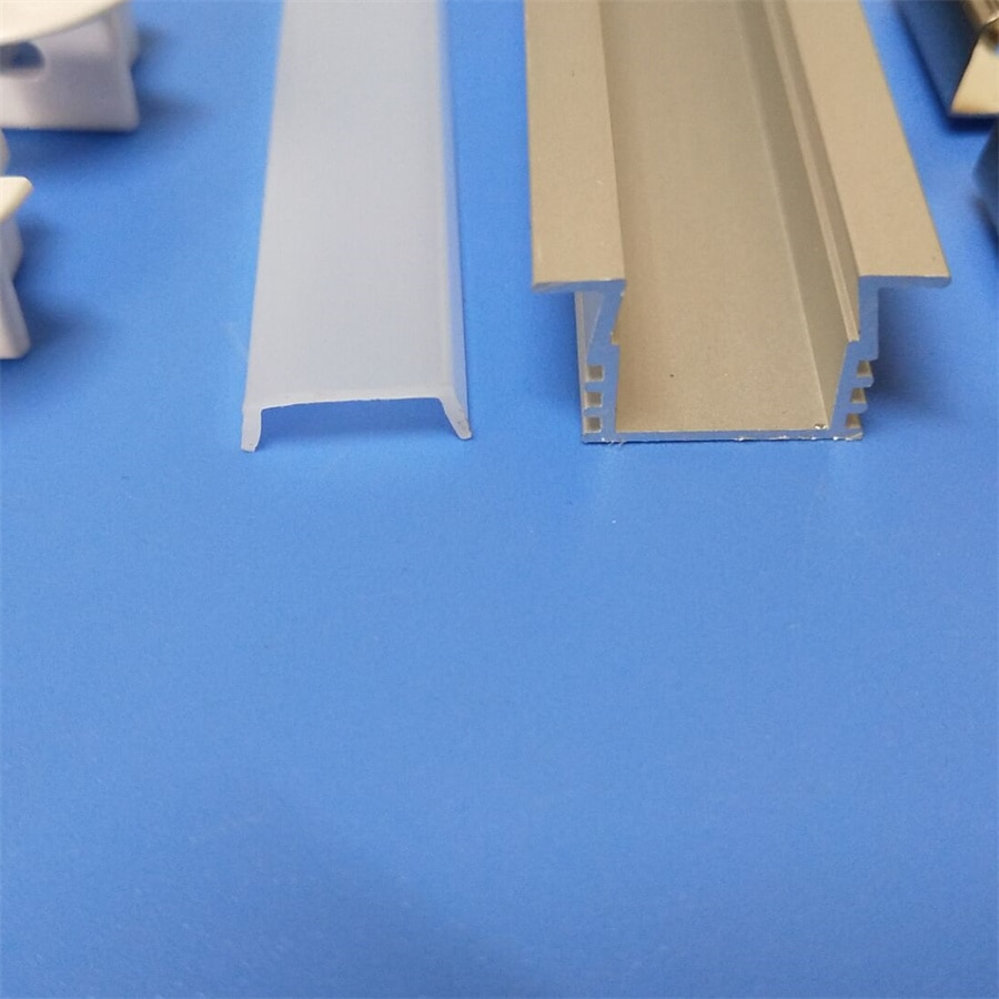 Free Shipping Slim size Channel Aluminum Profile for LED Strip with End Caps ann clips milky and transparent cover is avaible