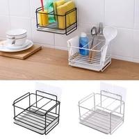 1pc porte-eponge savon vidange Rack de stockage de cuisine evier organisateur chiffon torchon porte-brosse fer etagere salle de bain organisateur 2021