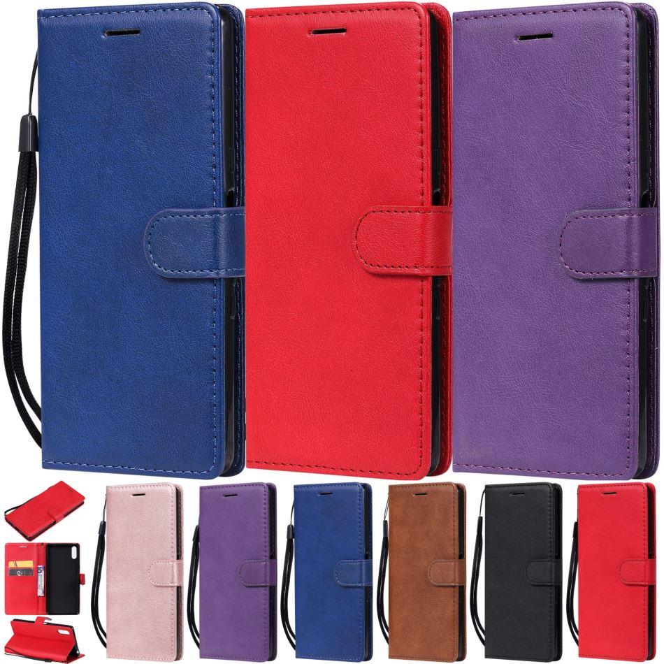 Capas De Couro Para O OPPO clássico Coque F7 F9 R17 A73 F5 Quadro Slot Para Cartão Casos Bonitos Livro Simples Capa Stand sacos de Telefone celular E06Z