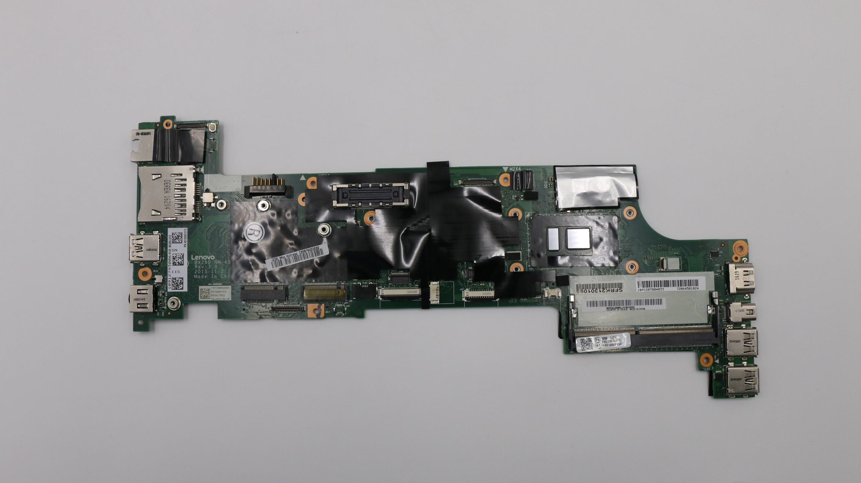 Thinkpad X260 i3-6100U Laptop Motherboard FRU NM-A531 00UP216 01EN219 00UP220 01YT065 01HX053 01YT035 01EN191 00UP188 01YT036