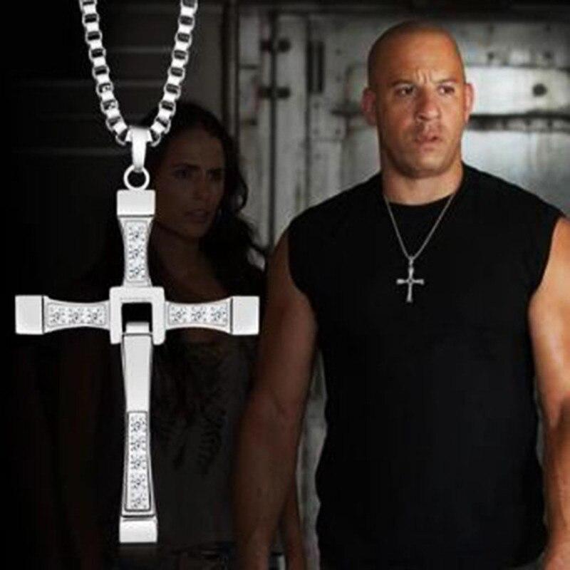 MIQIAO szybki i wściekły 6 7 8 Hard gas aktor Hip hop Dominic Toretto krzyż naszyjnik wisiorek dla mężczyzn prezent dla przyjaciela biżuteria