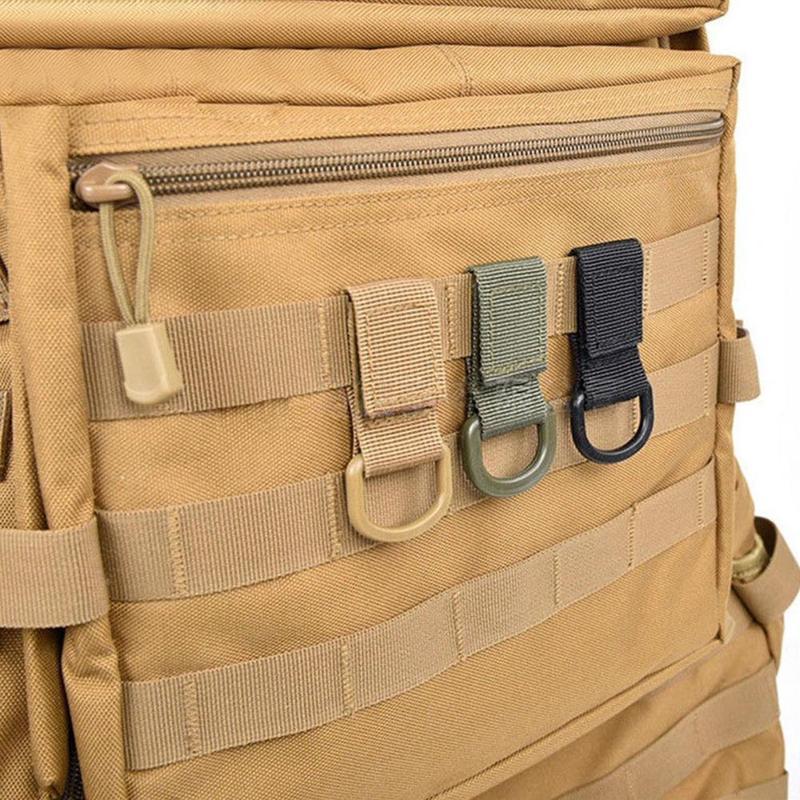 حلقة تسلق كليب التكتيكية على ظهره العسكرية إرفاق النايلون حزام سلسلة حلقة التسلق متعددة الوظائف عالية القوة معلقة حزام