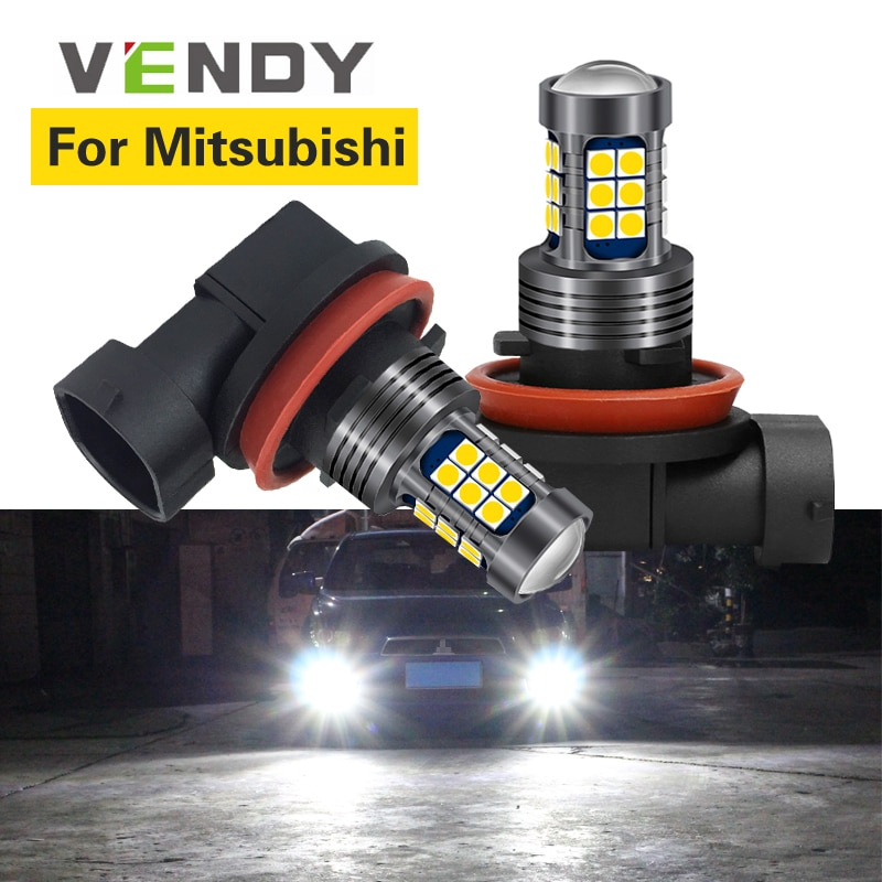 1 pçs para mitsubishi lancer x 10 l200 pajero esporte outlander xl galant rvr eclipse carro luzes led lâmpada h8 h11 h16 9006 hb4