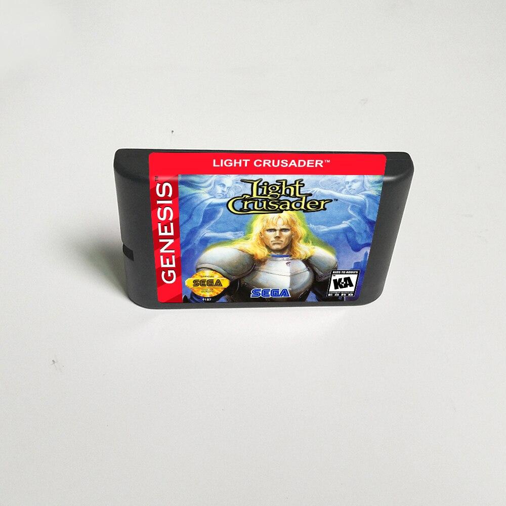 Light Crusader (ahorro de batería)-tarjeta de juego de 16 bits MD para...