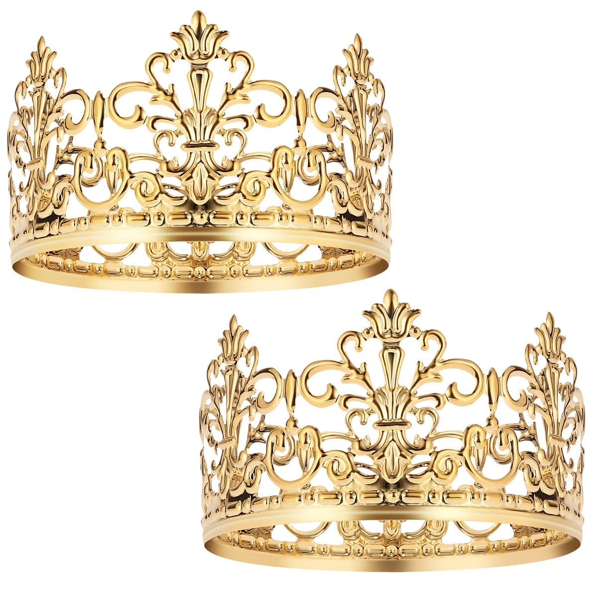 BESTONZON 2 uds exquisito corona elegante pastel decoración para fiesta de cumpleaños