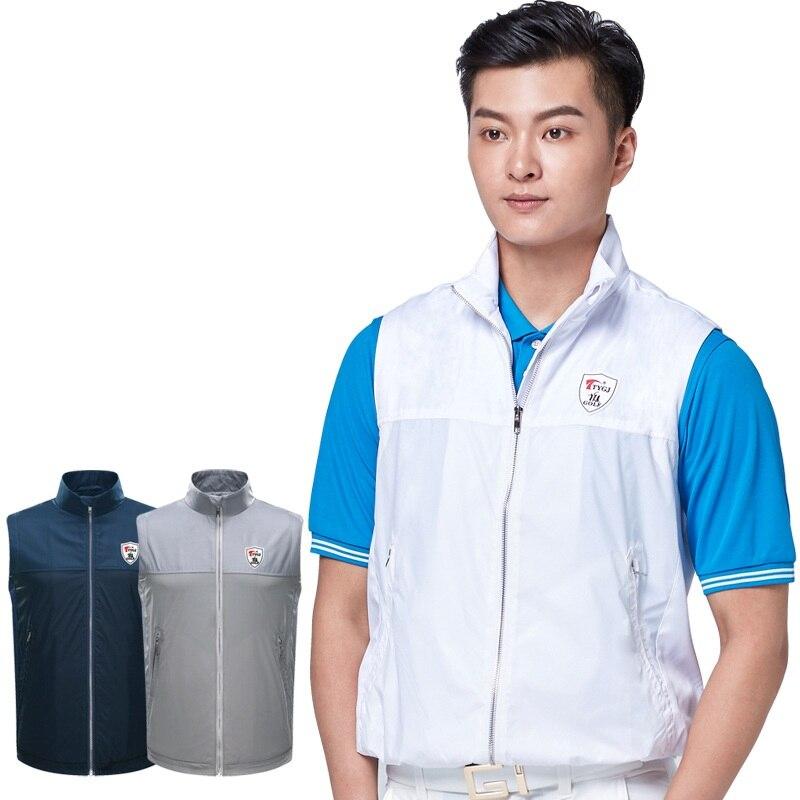 Pgm para hombre chaquetas de Golf sin mangas para hombre chaleco a prueba de viento para hombre chaleco chaqueta Chaleco con cremallera completa ropa de Golf D0660
