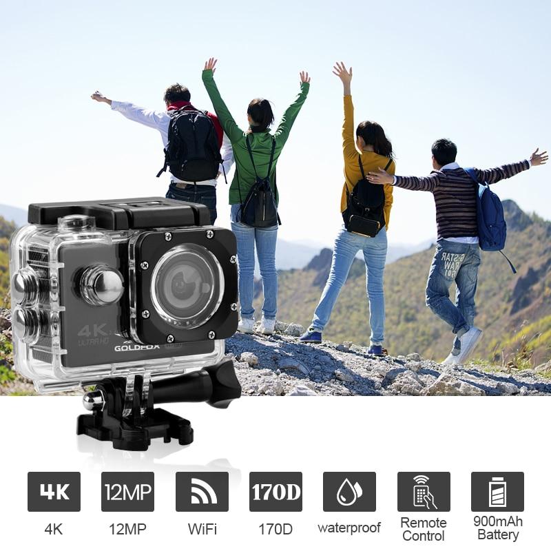 Ultra HD 4K Action Camera WiFi Remote Control Sports Video Recording Camera DV DVR 170D 30M Go Waterproof Pro Mini Helmet Camera enlarge