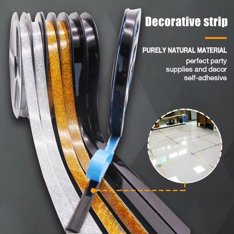 Cinta adhesiva a prueba de polvo, cinta adhesiva de cerámica, cinta autoadhesiva, impermeable, para pared, suelo, línea adhesiva, bordes, cinta decorativa