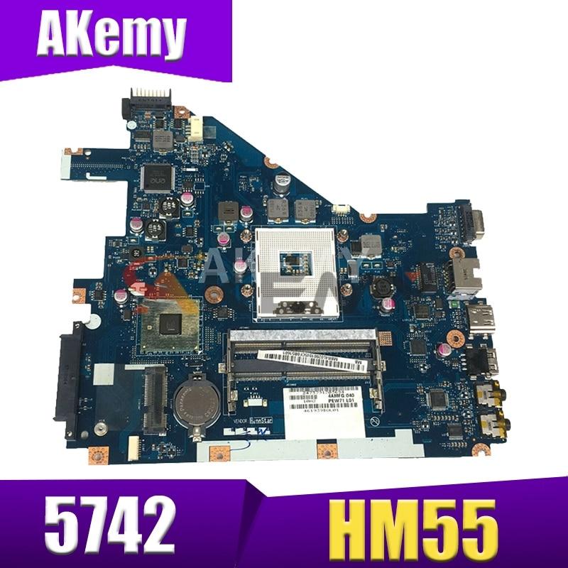 Akemy PEW71 LA-6582P MBR4L02001 MB.R4L02.001 اللوحة الرئيسية لشركة أيسر أسباير 5742 اللوحة الأم MBRJW02001 HM55