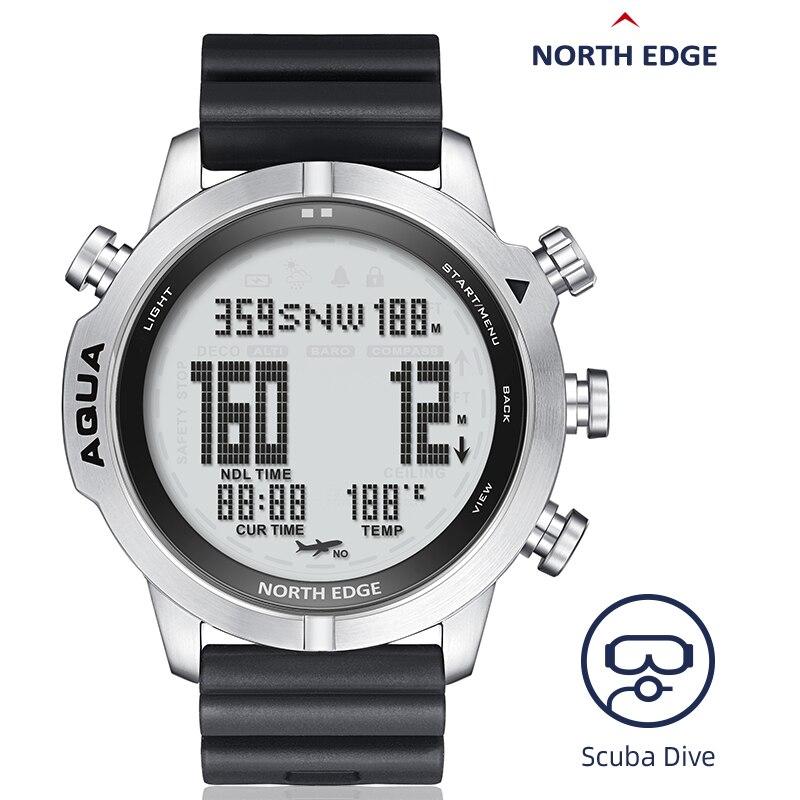 Diving Watch For Men 100M Waterproof Watches Scuba Dive NITROX Bracelet Professional Diving Clock Digital Led Wristwatches