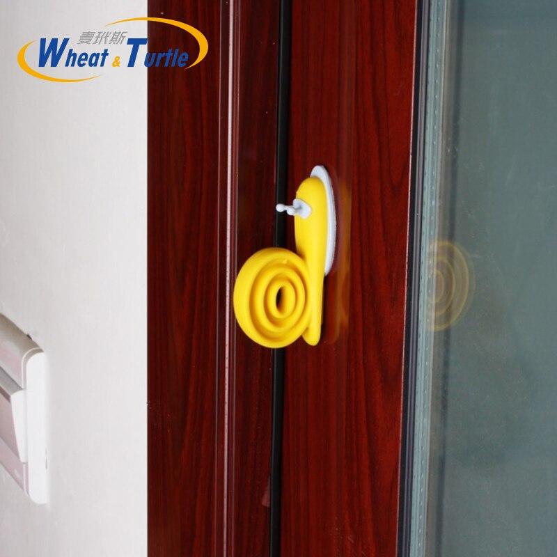 EVA дверная пробка, мультяшная форма улитки, дверная остановка, домашний декор, дверные буферы, детская защита пальцев, безопасные дверные пр...