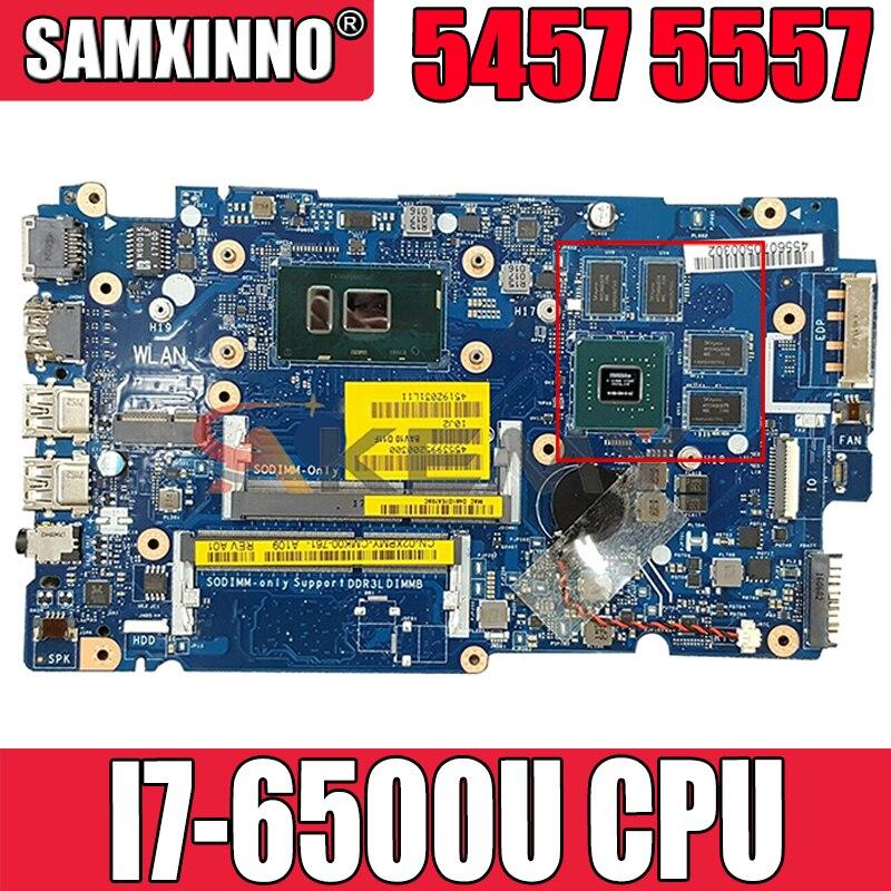 Akemy العلامة التجارية الجديدة I7-6500U لأجهزة الكمبيوتر المحمول ديل انسبايرون 5457 5557 اللوحة الأم باف00 LA-D051P CN-02XPMY 2XPMY اللوحة الرئيسية 100% اختبارها