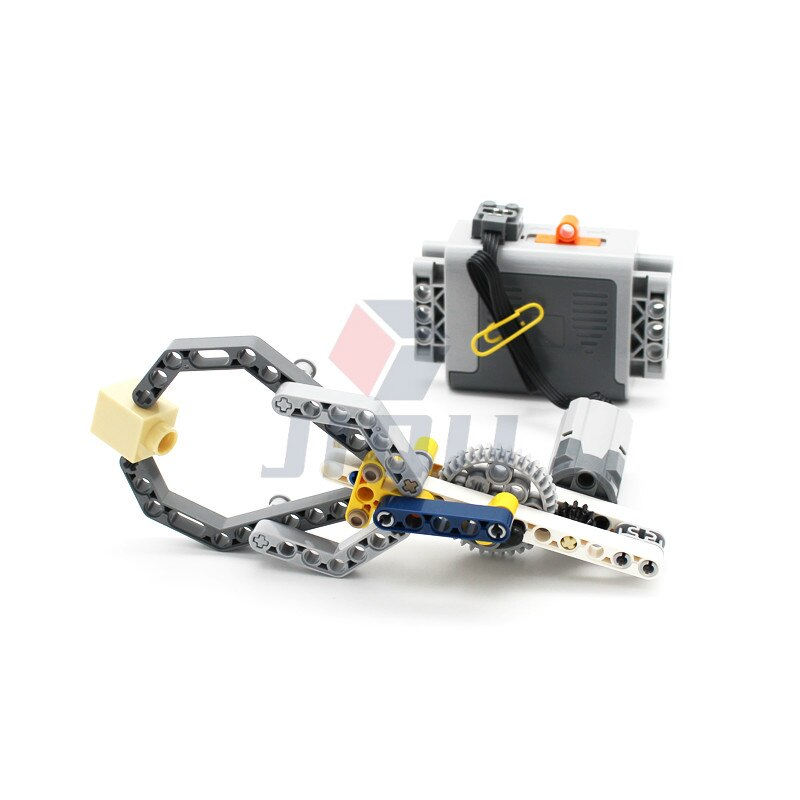 moc upgraded electric motor power toys compatible brands high tech mp5 submachine gun model building block diy brick boys gifts MOC High-tech 33 Pcs Mechanical Claw Mechanical Model Building Blocks Bricks Compatible with Motor PF Set DIY Toys