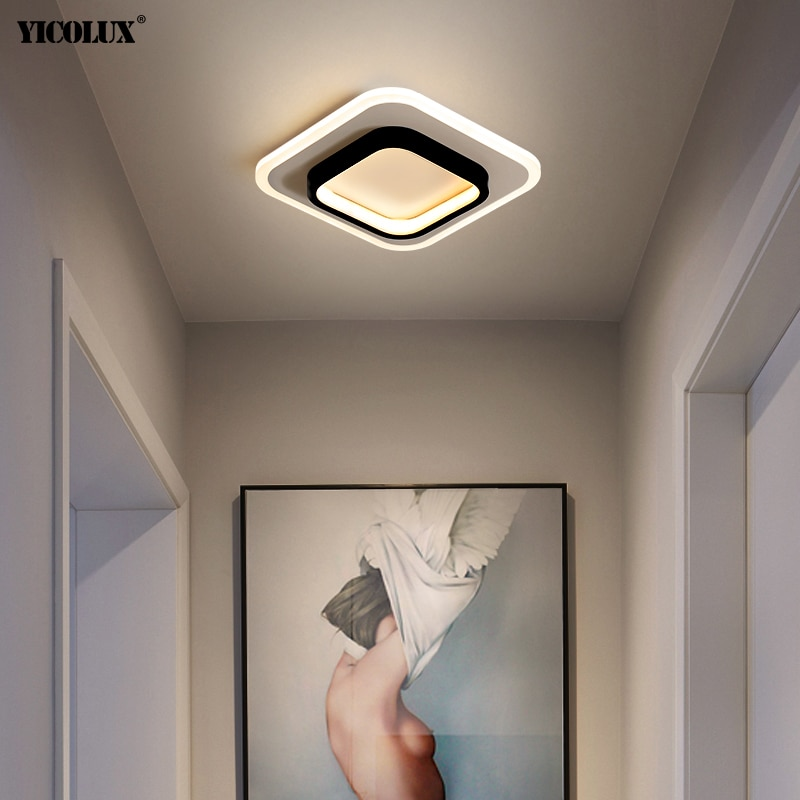 مصباح سقف Led دائري/مربع ، تصميم حديث ، مثالي للممر