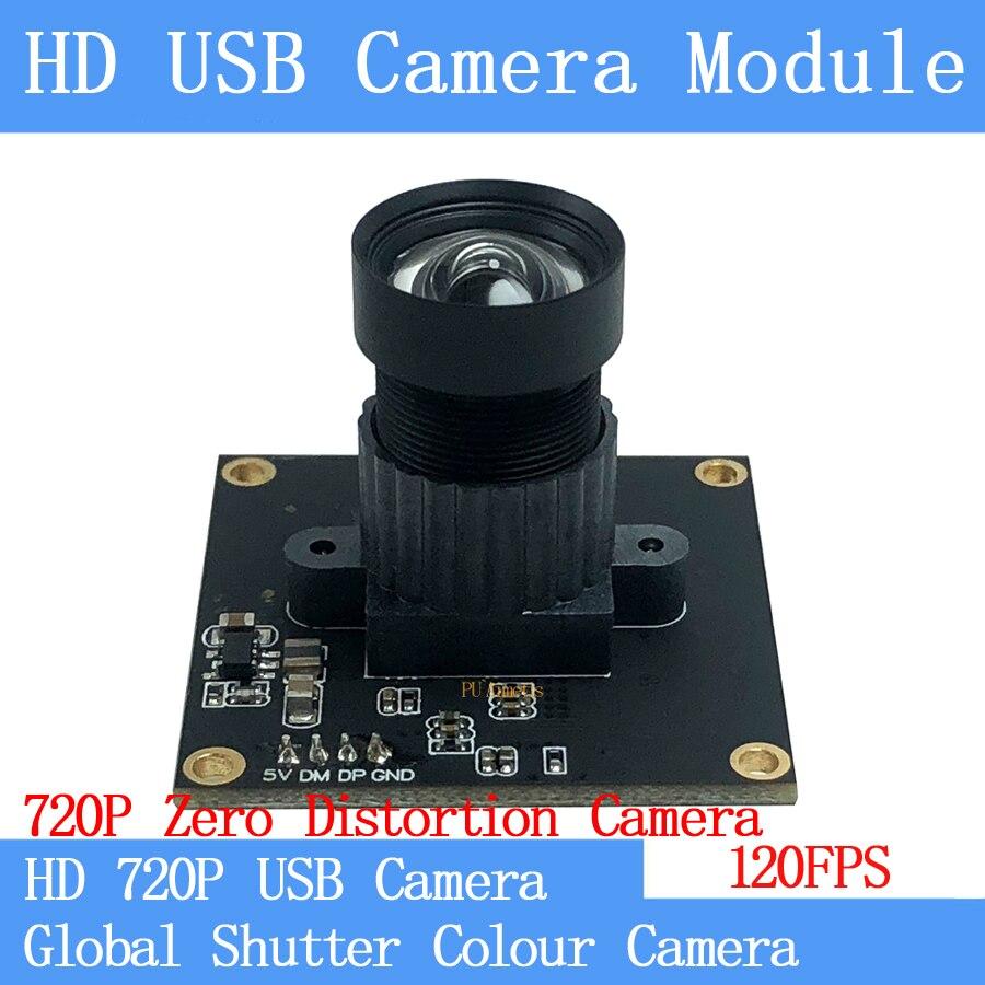 720p 120fps usb câmera módulo não distorção global obturador cor usb webcam otg windows android linux uvc suporte de áudio